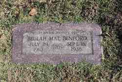 Beulah May <i>Legan</i> Benford