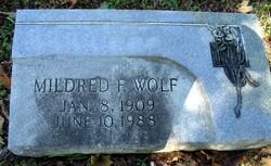 Mildred F Wolf