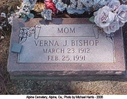 Verna Josephine <i>Carson</i> Bishop