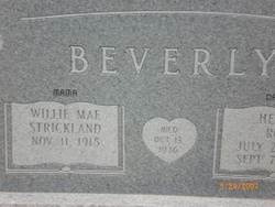 Willie Mae <i>Strickland</i> Beverly