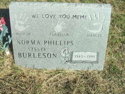 Norma Sissie <i>Phillips</i> Burleson