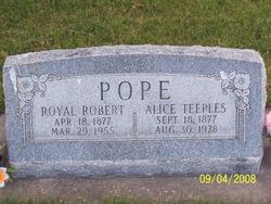 Alice Aurelia <i>Teeples</i> Pope