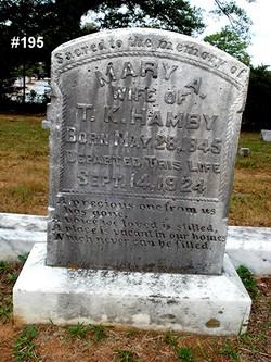 Mary Ann <i>Moore</i> Hamby