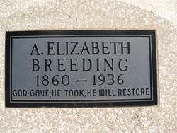 A (Amanda) Elizabeth <i>Wilcox</i> Breeding