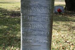 Hannah Loretta <i>Jewell</i> Aikin