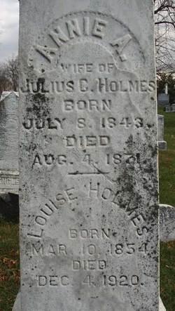 Annie A. <i>O'Bannon</i> Holmes