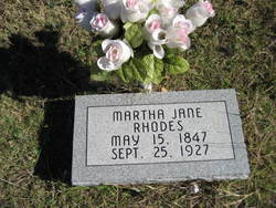 Martha Jane <i>Reed</i> Rhodes