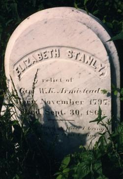 Elizabeth Mary or Maria <i>Stanly</i> Armistead