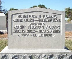 Janie <i>Thomas</i> Adams