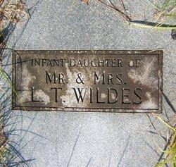 Infant Daughter Wildes
