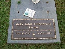 Mary Sadie <i>Thibodeaux</i> Savoie