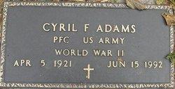 Cyril F Adams