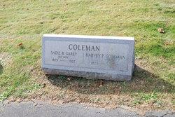 Sadie B <i>Garey</i> Coleman