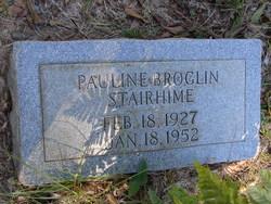 Pauline <i>Broglin</i> Stairhime