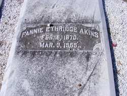 Fannie <i>Ethridge</i> Akins