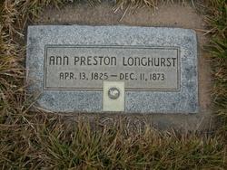 Ann Preston Longhurst