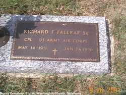 Corp Richard Franklin Falleaf, Sr