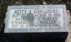 Betty Irene <i>Longshore</i> Allen