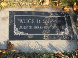 Alice Amelia <i>Dunford</i> Greene