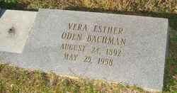 Vera Esther <i>Oden</i> Bachman