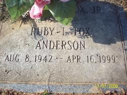 Ruby L <i>Fox</i> Anderson