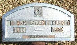Ann <i>Marsh</i> Burger