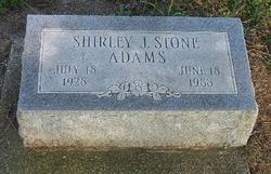 Shirley J. <i>Stone</i> Adams