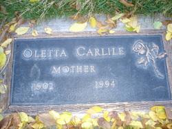 Olettta Lettie <i>Michaelson</i> Carlile
