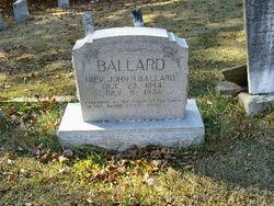Rev John Henry Ballard