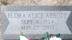 Flora Alice <i>Bourie</i> Abbott
