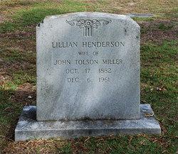 Lillian <i>Henderson</i> Miller