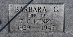 Barbara C Henry