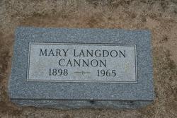 Mary <i>Langdon</i> Cannon