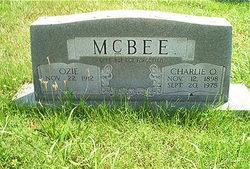 Ozie <i>Nicely</i> McBee