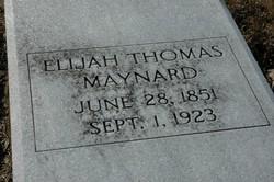 Elijah Thomas Maynard