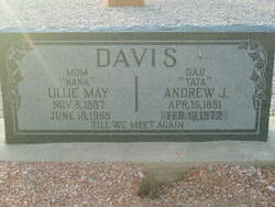 Lillie May <i>Hill</i> Davis