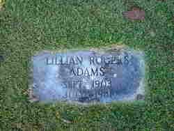 Lillian <i>Rogers</i> Adams