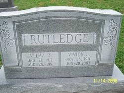Velma Ruth <i>Crum</i> Rutledge