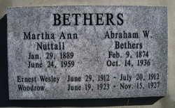 Martha Ann <i>Nuttall</i> Bethers