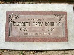 Elizabeth <i>Gray</i> Bowling