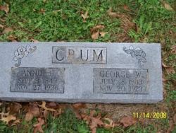 Anna Annie Eliza <i>Galloway</i> Crum