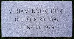 Miriam Havely <i>Knox</i> Dent