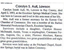 Carolyn <i>Hauser</i> Aull