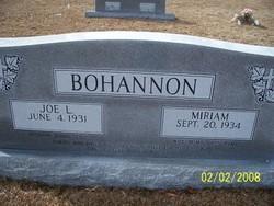 Miriam <i>Glisson</i> Bohannon