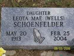 Leota Mae <i>Wells</i> Schoenfelder