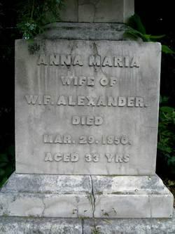 Anna Marie Thomasina <i>Washington</i> Alexander