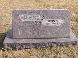 Mattie Ann <i>Kirby</i> Hensley
