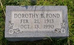 Dorothy B Pond