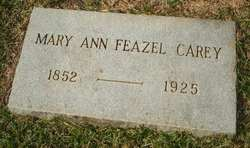 Mary Ann <i>Feazel</i> Carey