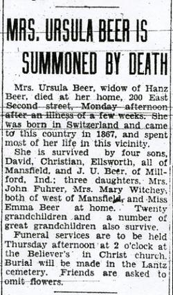 Ursula <i>Lantz</i> Beer